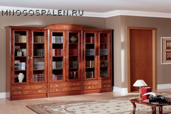 Библиотека Париж №56 купить в салоне-студии мебели Барселона mnogospalen.ru много спален мебель Италии классические современные