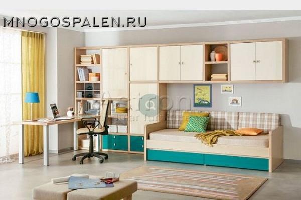 Детская T105 Астрон купить в салоне-студии мебели Барселона mnogospalen.ru много спален мебель Италии классические современные