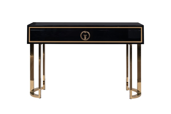 Консоль Garda Decor черный лак/золото GD-CST002 купить в салоне-студии мебели Барселона mnogospalen.ru много спален мебель Италии классические современные